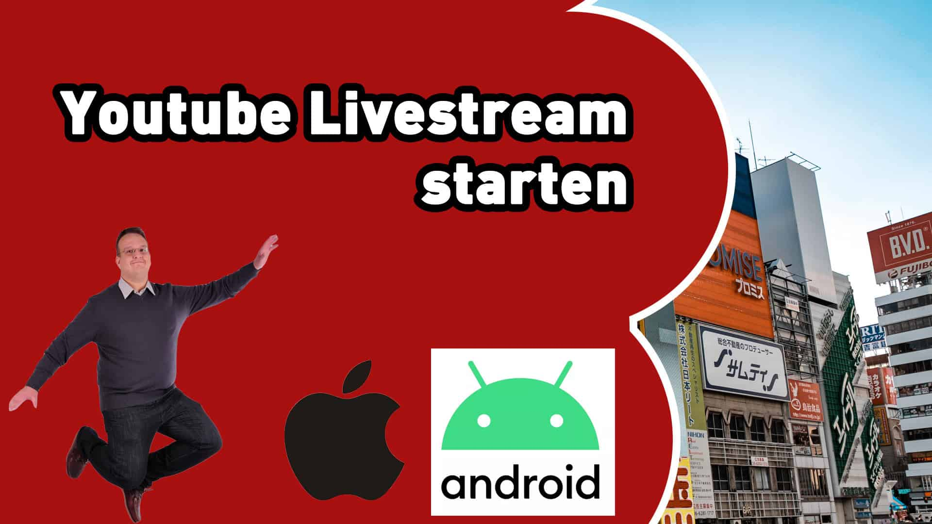 wie startet man ein youtube livestream mit dem handy smartphone - Home