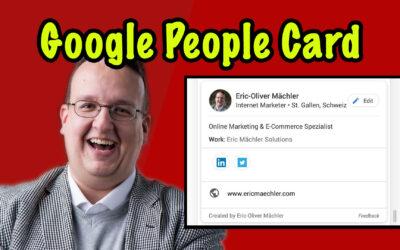 Die neuen Google Visitenkarten sind da (Google People Card) – Wie installiert man die?