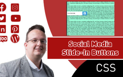 Wie erstellt man einen Social Media Slide-In Button? (Nur CSS & HTML) [Anleitung / Tutorial]