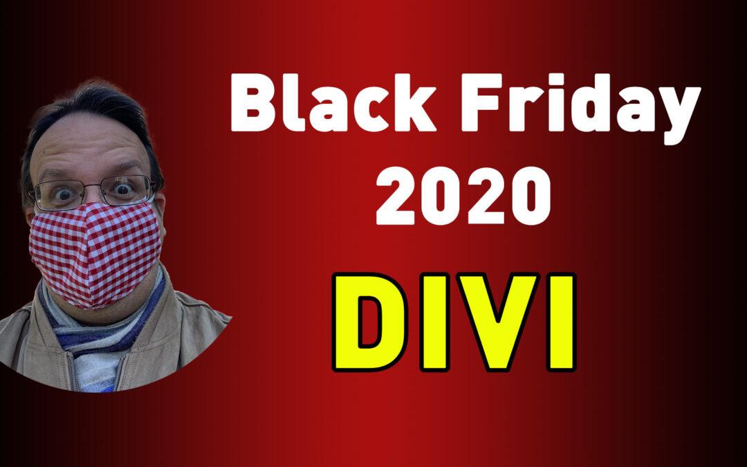 Black Friday 2020 – DIVI Aktionen