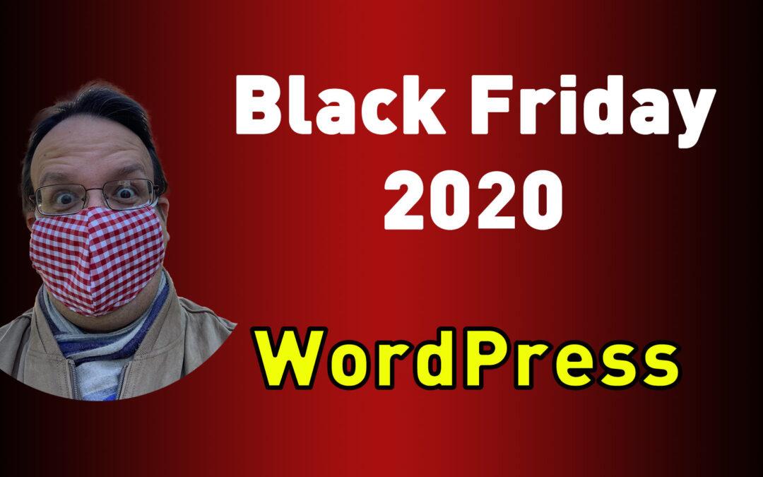Black Friday 2020 WordPress Aktionen