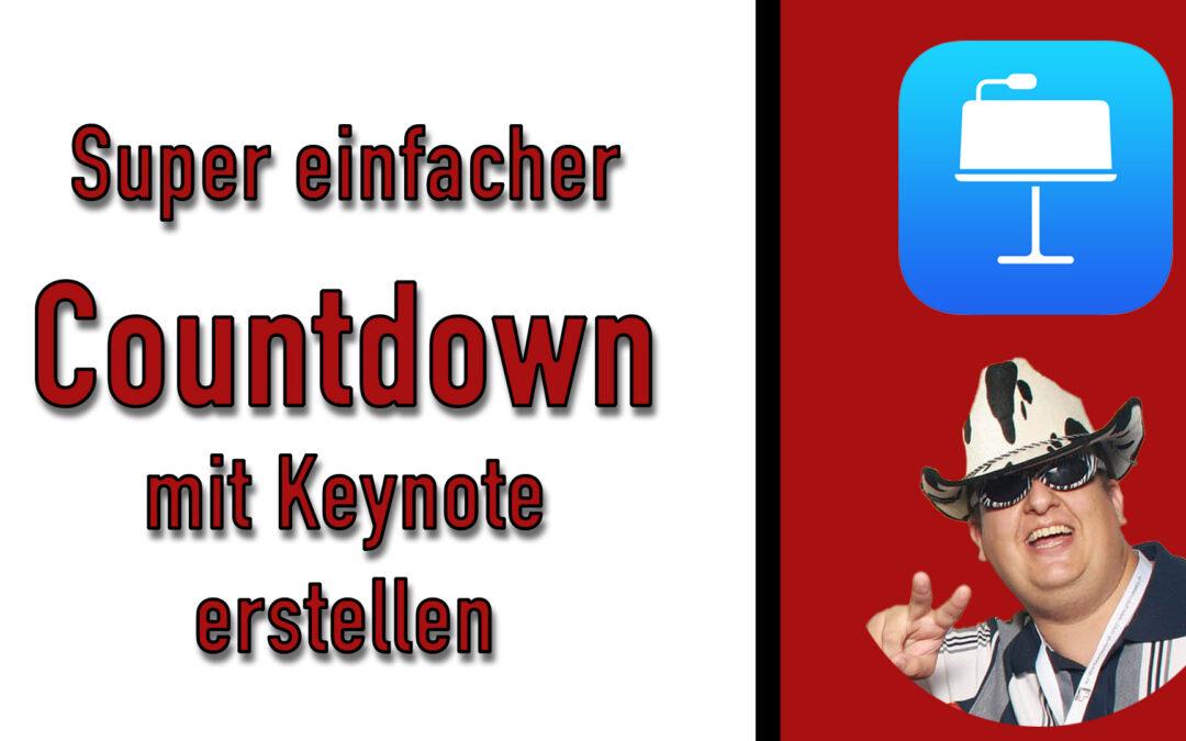 Super einfacher Countdown in Keynote erstellen [Für Live Stream oder Videos]