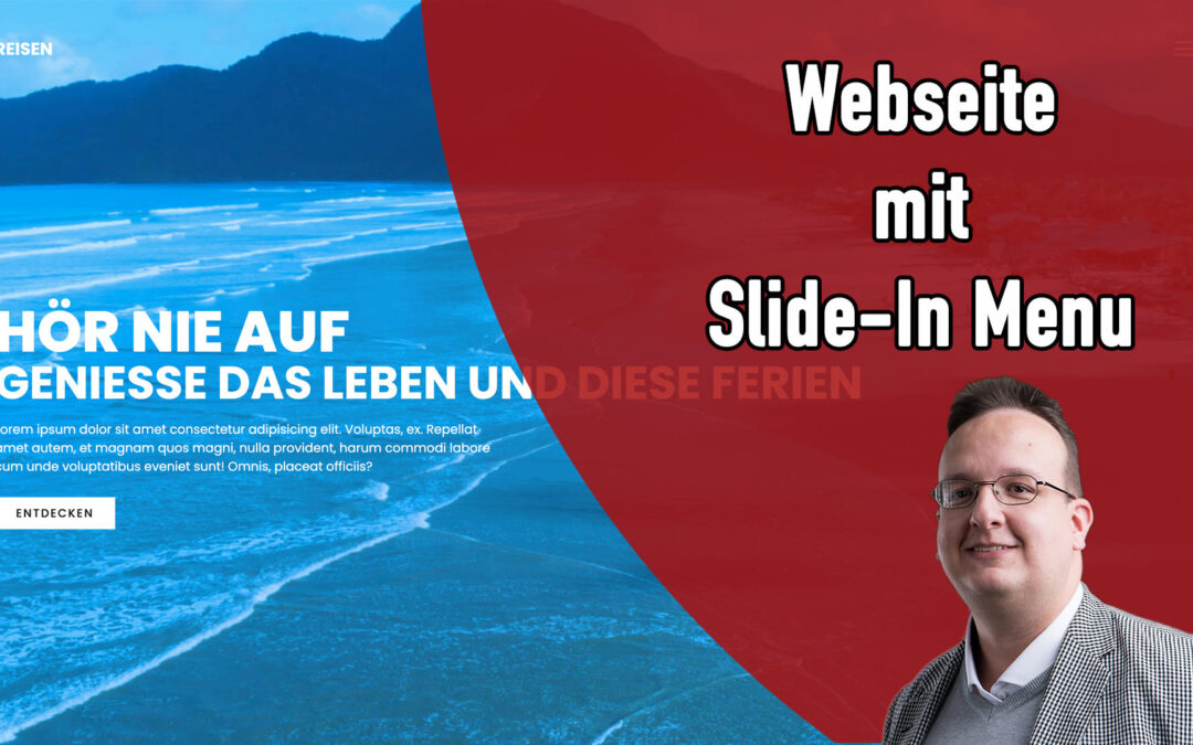 Kreative Webseite mit Slide-In Menu [HTML & CSS & JS]