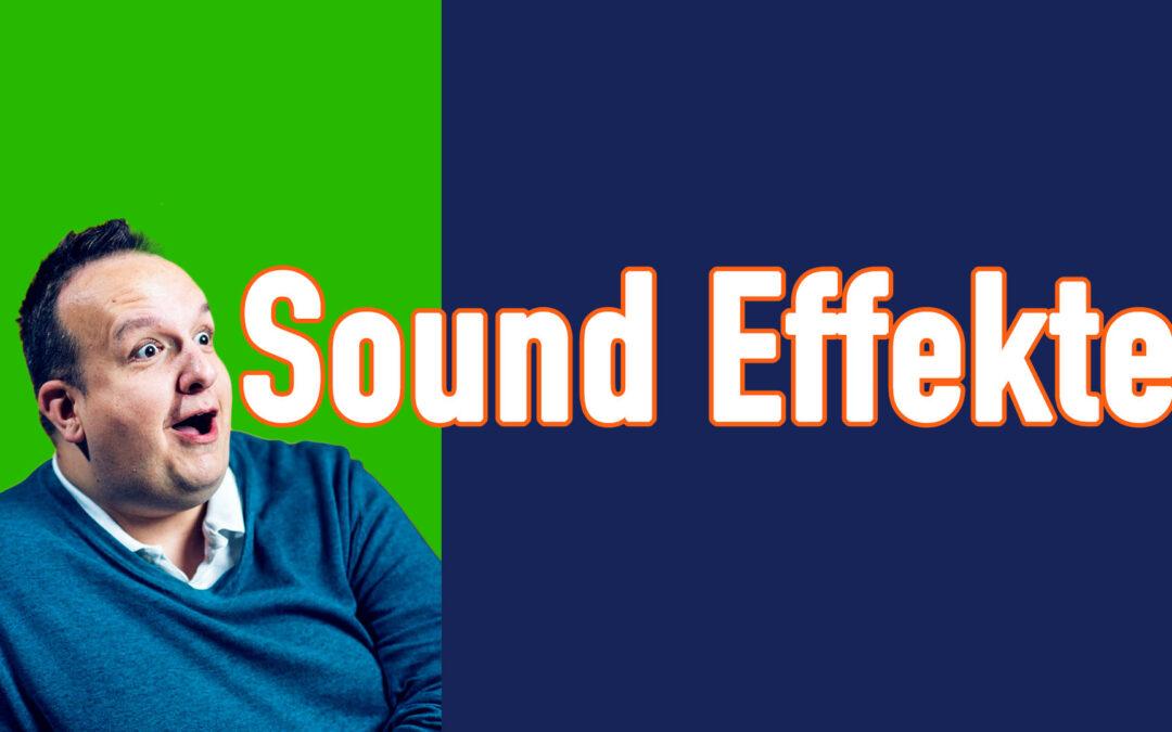 Coole Sound Effekte für eure Videos oder Livestreams