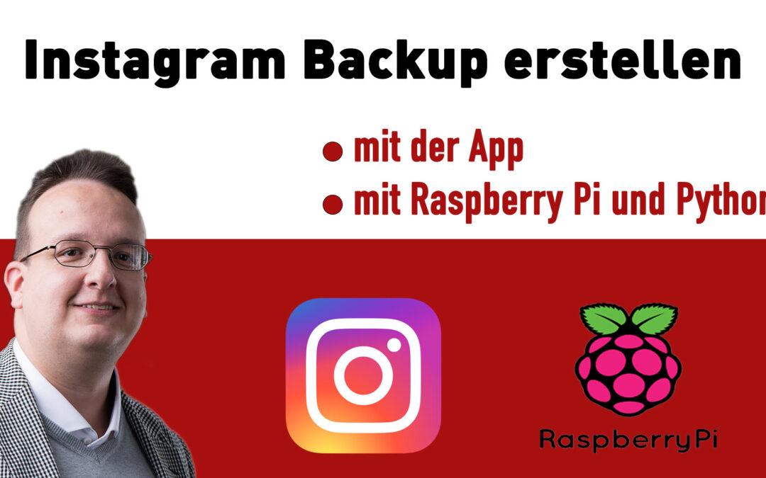 Instagram Backup erstellen