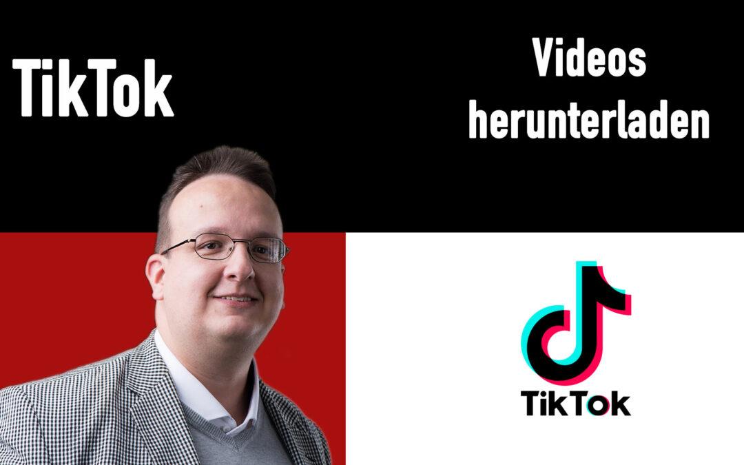 Tiktok Videos sauber herunterladen (Ohne Watermark / Wasserzeichen)