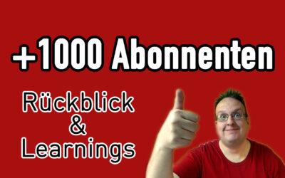 1000 youtube abonnenten geschichte und was habe ich daraus gelernt 400x250 - Blog