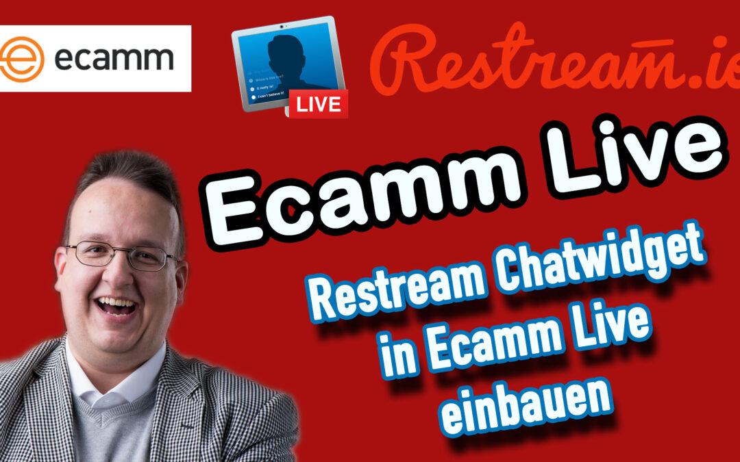 Ecamm Live: Restream.io Chatwidget in Ecamm Live einbauen