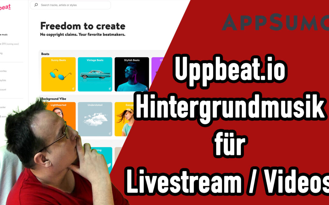 geniale hintergrundmusik videos social media posts Appsumo Aktion Uppbeat 1080x675 - Home