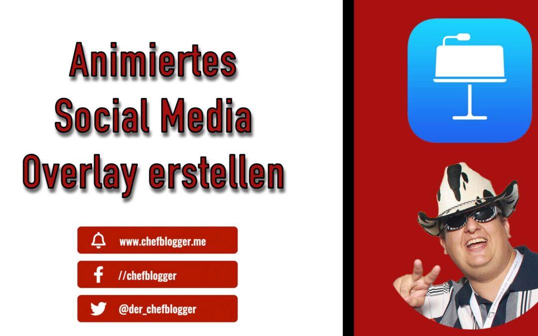 Animierte Social Media Overlays Buttons mit Keynote erstellen für Ecamm Live oder OBS
